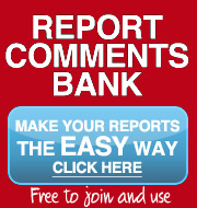 primary school report writing comment bank